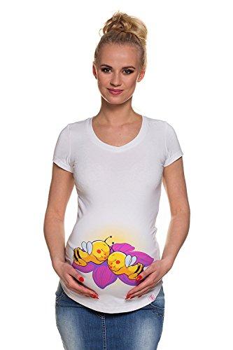 Umstands-Shirt Mutterschafts-Shirt Bienenzwillinge twins Doppel-Glück