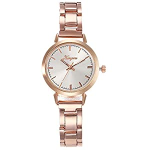 Damen Armbanduhr Luotuo Frauen Uhren Wasserdicht Analog Quarz Edelstahl Armbanduhr Damen Mädchen Mode Elegant Beiläufig Uhr Schlank Einfachheit Geschäft Watch Handschmuck Geschenk