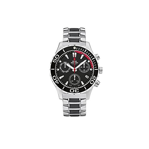 Swiss Military By Chrono Analogue Black Dial Men's Watch SM34048.01