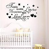 Zlxzlx Star Wall Decal Sterne Vinyl Wandaufkleber Home Kids Room Decor Abnehmbare Kindergarten Twinkle Star Wandbild 103 * 56 Cm