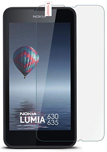 moex 9H Panzerfolie für Nokia Lumia 630 | Panzerglas Bildschirm Glasfolie [Tempered Glass] Screen Protector Glas Bildschirmschutz-Folie für Nokia Lumia 630/635 Dual SIM Schutzfolie