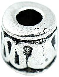 BODYA 10 piezas estación de abalorios de plata tibetana mamarrachada artesanías de granos del encanto de los granos rollar 5 mm Collar Pulsera accesorios