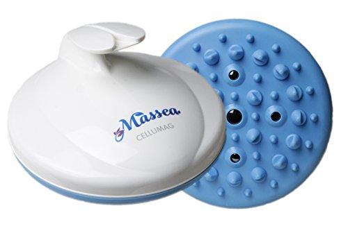 CelluMag Anti Cellulite Massagebürste mit Magneten gegen Orangenhaut. Für straffe Haut, Massage, Wellness und Beauty (Blau)