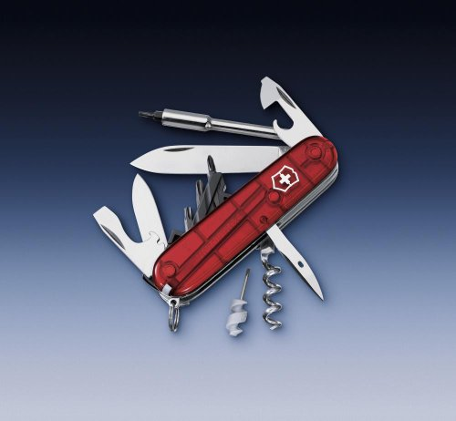 Cyber Tool in Rot transparent mit 29 Funktionen