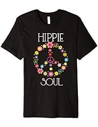 Hippie Soul T-Shirt Flower Power Peacezeichen Geschenk
