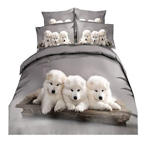 3 Stück Bettwäsche Sets Mikrofaser Polyester 2 Personen 1 Person Bettbezug Set mit Reißverschluss