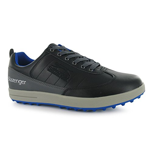 Slazenger Mens Casual Golf Shoes Padded Collar Lace Up Sports Footwear Black UK 10 (44)