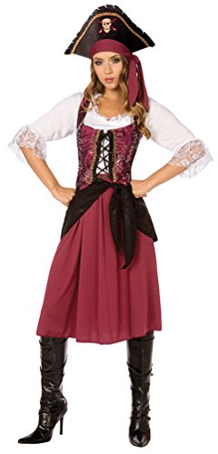 Karneval-Klamotten Piratin Kostüm sexy Piratenkostüm Damen Kostüm Pirat INKL. Piratenhut Kostüm Karneval Damenkostüm Größe ()