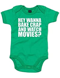 Hey Wanna Bake Crap and Watch Movies?, Printed Baby Grow