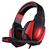 Kotion Each G4000 USB Gaming Headset with Mic and LED (Red)