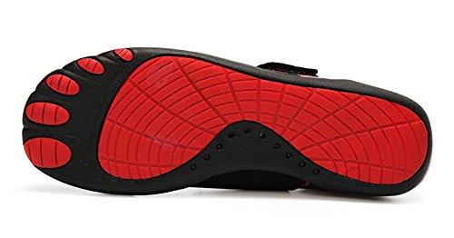 Gaatpot Donna Uomo Scarpe da Immersione Rapida Asciugatura Scarpe da Sport Acquatici Spiaggia per Nuoto Corsa Snorkeling Surf Esercizi di Yoga Rosso-#2