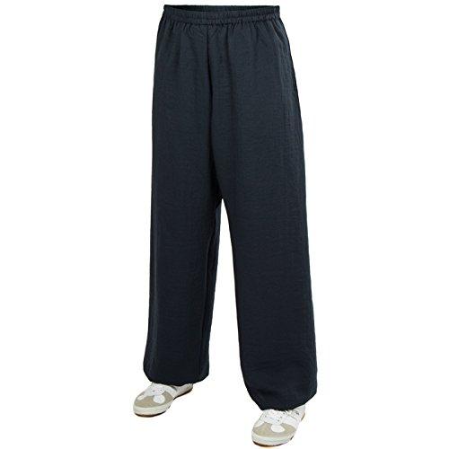 Baumwolle (Leicht) Trainingshose - Kung Fu - Wushu - Tai Chi - Taiji - Martial Arts - Hose - Sport - Yoga - Freizeit - Schwarz - 170 (Martial-arts-training-schuh)