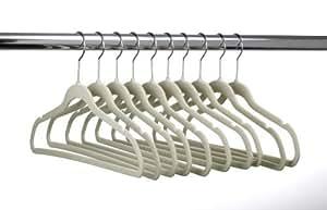 ULTRA-SLIM VELVET SUIT HANGERS - SET OF 10- Beige by HangerShop