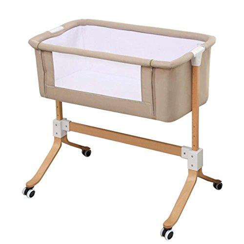 baby stroller Massivholz-Krippe Multifunktions-Baby Spleißbett Continental Neugeborenen-Portable Kinderbett, Bequemes Gewebe Tut Nicht Weh Das Babybett,3