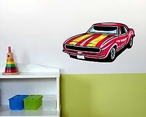 American Pony Car Wandaufkleber Auto Wandtattoo in 4 Größen (110x61cm mehrfarbig)