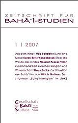 Zeitschrift für Bahá'í-Studien: Heft 1/2007