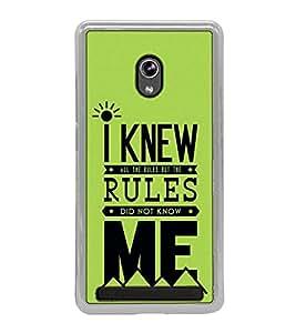 Fuson Designer Back Case Cover for Asus Zenfone 5 A501CG (Regulation Knowing Me Self Understanding Law)