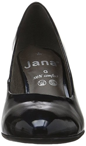 Jana 22400, Scarpe con Tacco Donna Blu (Blau (Navy Met. Pat. 801))