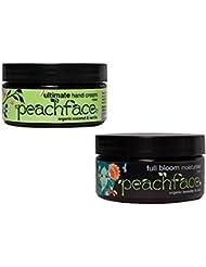 Peachface Teen Moisture Geschenk-Set: Full Bloom Feuchtigkeitscreme 100 ml und Ultimate Handcreme 100 ml, 1er Pack (1 x 2 Stück)