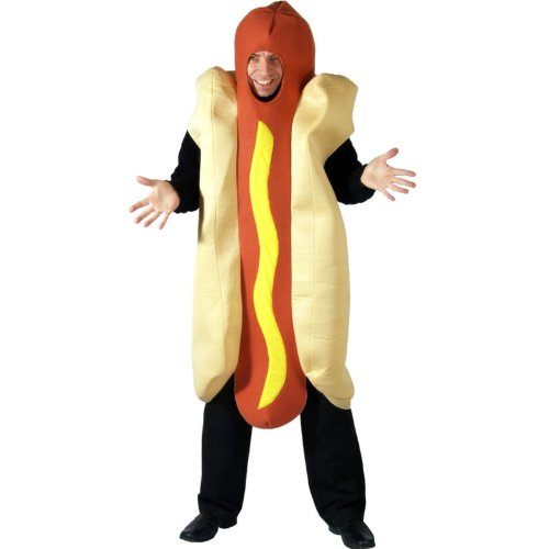 Hot Dog Adult Costume Stag Fancy Dress One Size