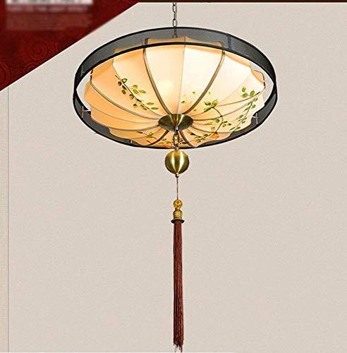 Neuen chinesischen Stil, Kronleuchter Leinwand Lackiererei in der Hand der Verjüngung Restaurant Untersuchung der Avenue der Ehre Engineering (Größe: Durchmesser 70 cm)