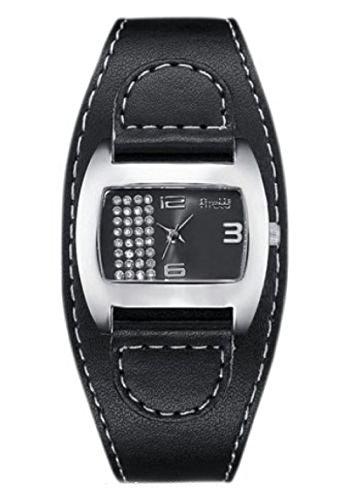 Schöne Damen Armbanduhr von FIRETTI schwarz Quartzwerk und Mineralglas