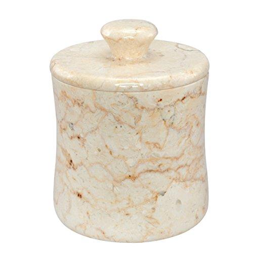 Evco Internationale 74177 - Marble Bath Curvy Shape - Champagne - Cotton Ball Holder Cotton Ball Holder