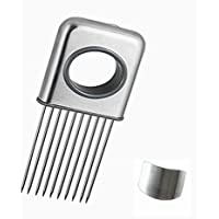 Foyou Onion Holder Slicing Guide Stainless Steel Prongs with Finger Guard Protector for Cutting by Foyou
