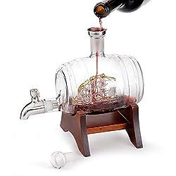 NAN Whiskykaraffe Decanter,Perfekt Für Zuhause, Restaurants Und Partys Whiskykenner,Whiskykaraffe Edel Mit Gravur - Personalisierte Whisky-Geschenke Für Männer