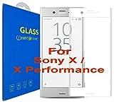Sony Xperia X / X Performance Schutzfolie [3D gebogen Full Deckung] - 3D Curved Kante zu Kante gehärtetem Glas Displayschutzfolie mit 9H Härte für Sony Xperia X / Sony Xperia X Performance (Weiß)