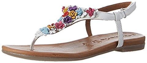 Tamaris Women's 28121 Sandals, White (White Comb 197), 6