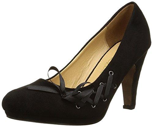 Molly Bracken - Xenia, Sandalo Con Tacco da donna, nero (noir), 37