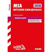 Mittlerer Schulabschluss Schleswig-Holstein - Mathematik Lösungen