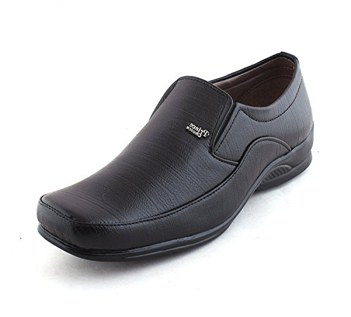 Alestino Men's Black Leather Formal Shoes-8
