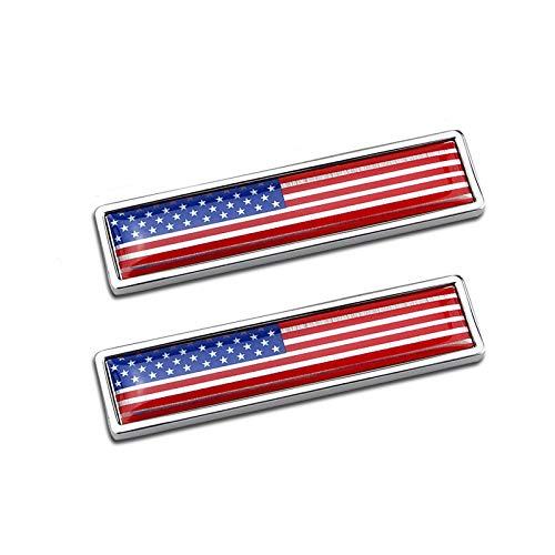 58mm * 14mm Größe Kleines Rechteck Metall Auto Aufkleber Aufkleber 3D Amerika Flagge Emblem National Signs USA US Farbige Flagge Abzeichen Grafik Aufkleber für Rennwagen Kits Hood Trunk Röcke Seiten -