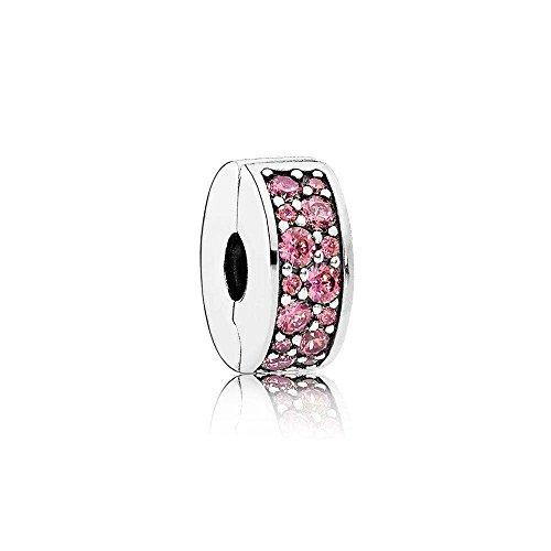 Pandora Charm, Clip, pink, Silber 791817HCZ