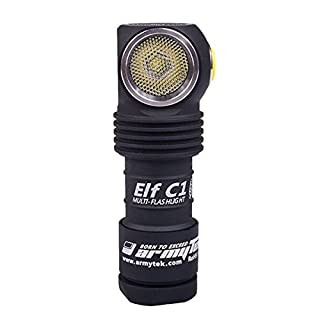 Armytek C1 L (Warm) XP with 18350 Li-ion Battery 900 mAh Micro USB Rechargeable Torch with Roll for use as a Headlamp