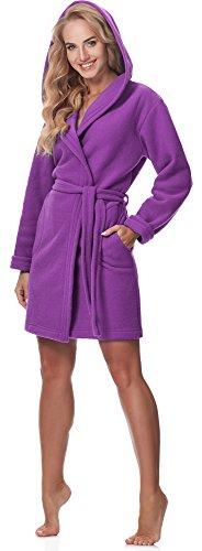 Merry Style Damen Bademantel mit Kapuze M4N3Q52 Violett