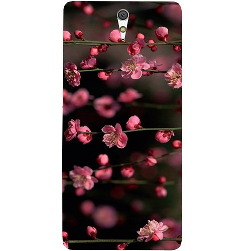 Casotec Pink Flowers Design Hard Back Case Cover for Sony Xperia C5 Ultra Dual