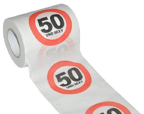Unbekannt Toilettenpapier 25m - 50. Geburtstag / fünfzig und Sexy - Verkehrsschild WC Klopapier Klopapier lustig Klorolle große Rolle
