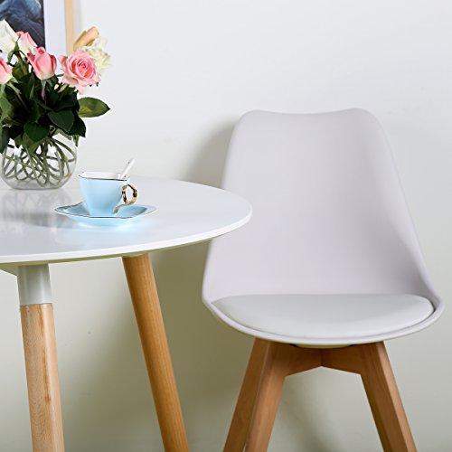 Eggree pack de 4 tulip comedor silla de oficina con las for Sillas comedor madera con brazos