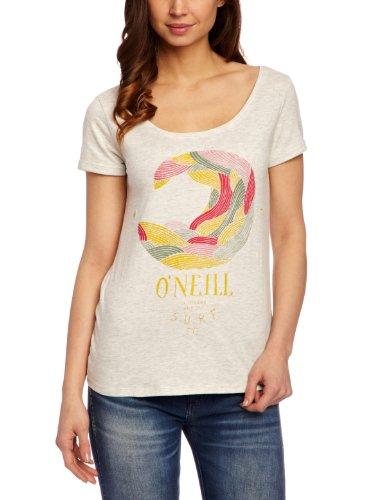 O'Neill - Maglietta con stampa, manica corta, donna Bianco (Vaporous White)
