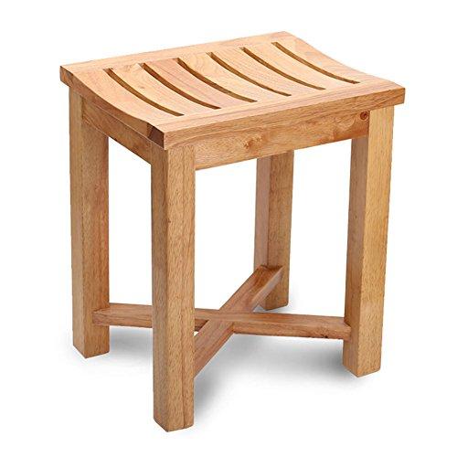 XUEYAN XY_19 Badehocker aus massivem Holz, wasserfester Duschsitz aus korrosionsbeständigem Material, Rutschfester Badehocker