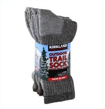 4 Pairs of Mens or Womens Medium Merino Wool Walking Hiking Socks (Women's: 4-8 Men's: 3-7)