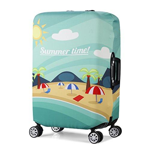 """3D Print Strand Design Reise Trolley Hülle Schutz Koffer Abdeckung 30""""-32"""" Trolley Koffer Gepäckabdeckungen Größe XL"""