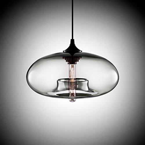 Cozyle Design moderne et pendentif accroché lumière en verre transparent Shades