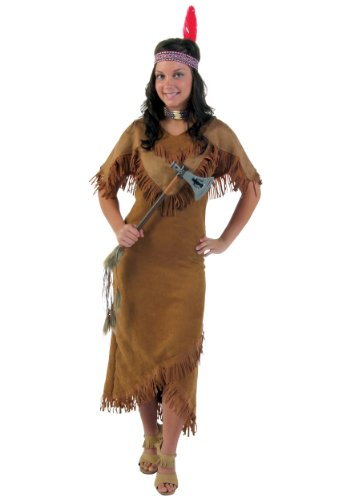 Deluxe Indian Womens Kostüm - Plus Size Deluxe Women's Indian Fancy dress costume 7X