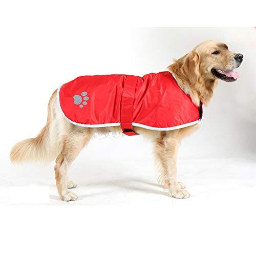 LOVEPET Große Hundekleidung Herbst Und Winter Golden Retriever Labrador Wasserdichter Reflektierender Streifen Doppelseitiger Baumwollmantel Für Haustiere