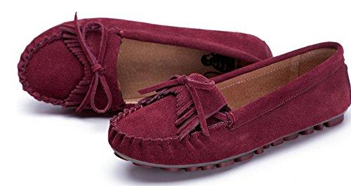 Chaussures de Doug/Flats Saleh de flux pour le summer Lady/Chaussures occasionnelles de cuir clair A