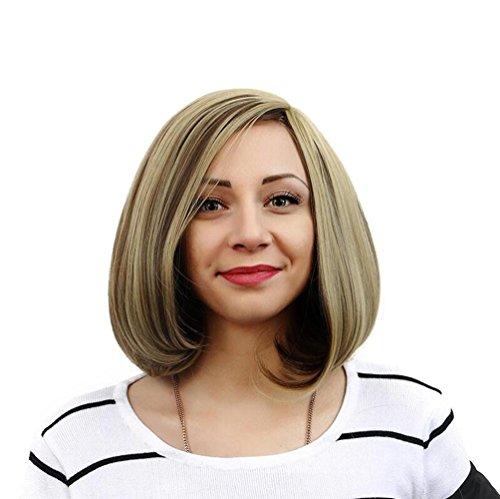 OOARGE Perücke Frau kurzes Haar flaumig Interne Schnalle Flachs braun Europa und den Vereinigten Staaten Mode , photo